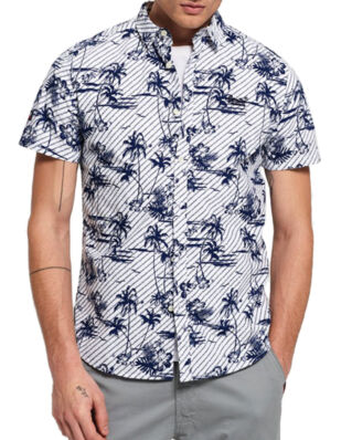 Superdry S/S International Vacation Shirt Optic White Hibiscus