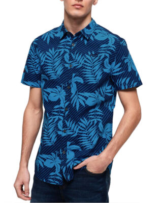 Superdry S/S International Vacation Shirt Rich Navy Hibiscus