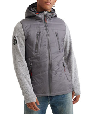 Superdry Storm Hybrid Ziphood Silver Heather Marl