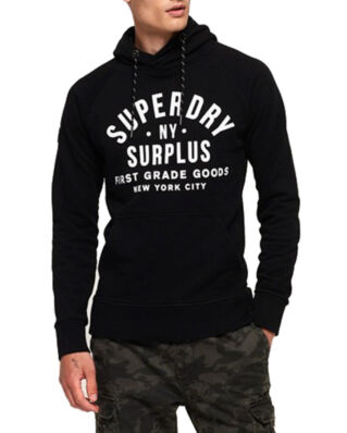 Superdry Surplus Goods Graphic Hood Jet Black