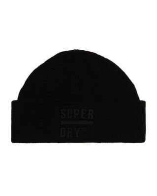 Superdry Surplus Silicone Beanie Black