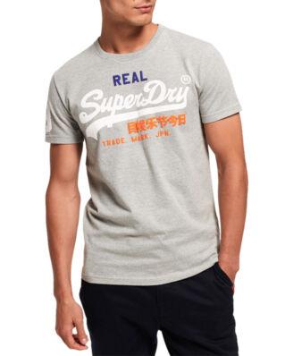 Superdry Vintage Logo Tri Tee Montana Grey Grit