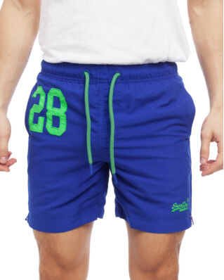 Superdry Water Polo Swim Short Racer Cobalt