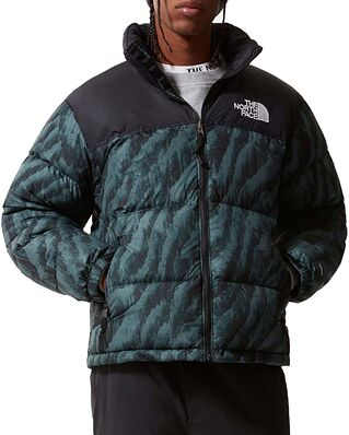 The North Face 1996 Printed Nuptse Jacket Green