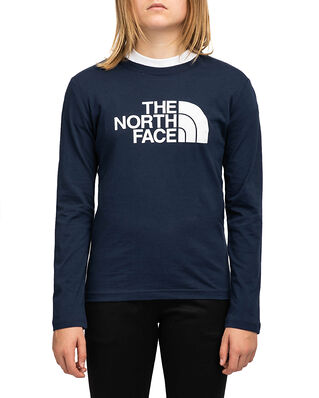 The North Face Junior L/S Easy Tee Navy