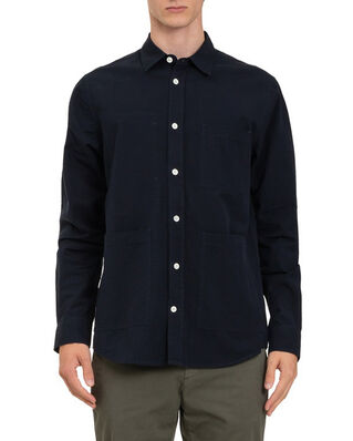 Norse Projects Thorsten Seersucker Dark Navy