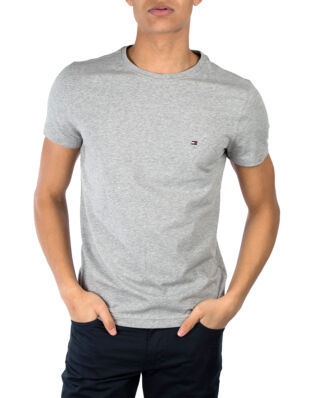 Tommy Hilfiger Core Stretch Slim C-Neck Tee Cloud Heather