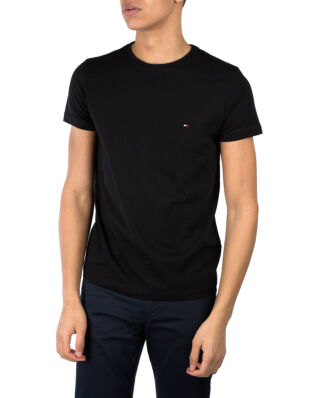 Tommy Hilfiger Core Stretch Slim C-Neck Tee Flag Black