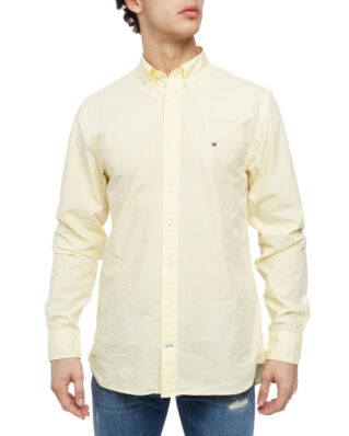 Tommy Hilfiger Garmant Dyed Poplin Shirt Lemon Meringue
