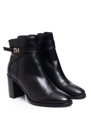 Tommy Hilfiger Hardware Leather High Boots Black