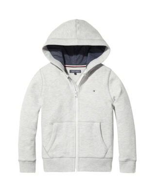 Tommy Hilfiger Junior Boys Basic Zip Hoodie Grey Heather