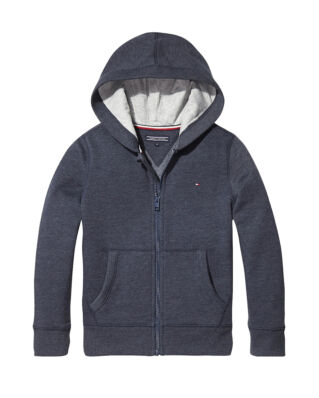 Tommy Hilfiger Junior Boys Basic Zip Hoodie Sky Captain