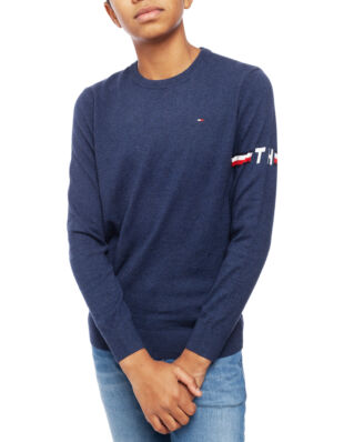Tommy Hilfiger Junior Essential Cttn/Cashmere Sweater Black Iris Htr.
