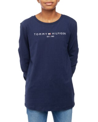 Tommy Hilfiger Junior Essential Hilfiger Tee L/S Black Iris