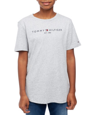 Tommy Hilfiger Junior Essential Hilfiger Tee S/S Grey Htr