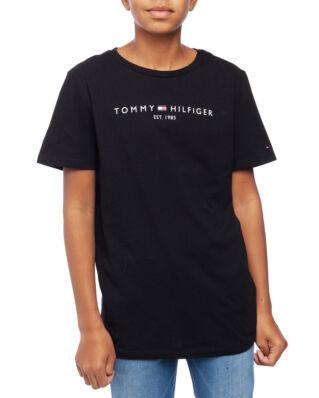 Tommy Hilfiger Junior Essential Hilfiger Tee S/S Tommy Black