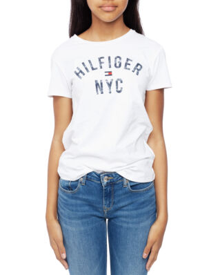 Tommy Hilfiger Junior Essential Tommy Print Tee S/S Bright White