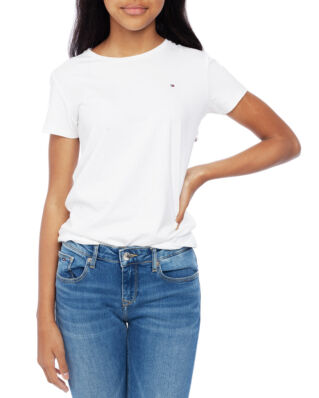 Tommy Hilfiger Junior Girls Basic Cn Knit S/S Bright White