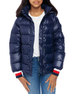 Tommy Hilfiger Junior High Shine Puffer Black Iris