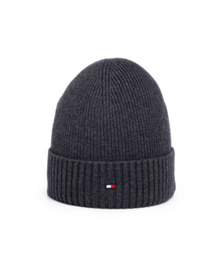 Tommy Hilfiger Pima Cotton Beanie Dark Grey Melange