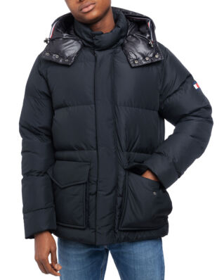 Tommy Hilfiger Tommy Hooded Bomber Jet Black
