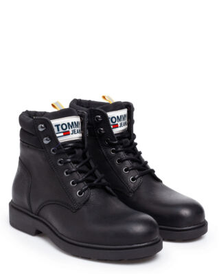 Tommy Jeans Casual Leather Boot Black