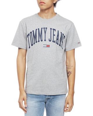 Tommy Jeans Tjm Collegiate Logo Tee Lt Grey Htr