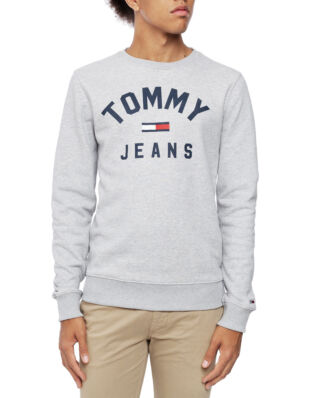 Tommy Jeans Tjm Essential Flag Crew Lt Grey Htr