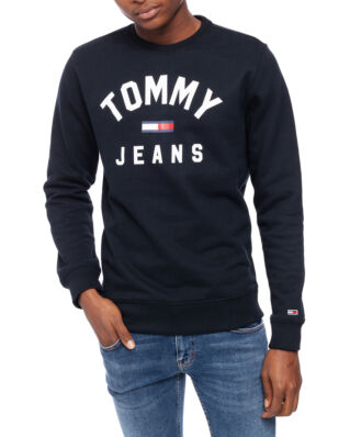Tommy Jeans Tjm Essential Flag Crew Tommy Black