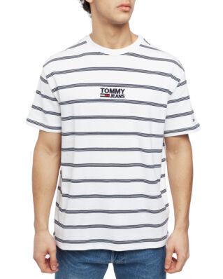 Tommy Jeans Tjm Signature Stripe Tee Classic White / Multi