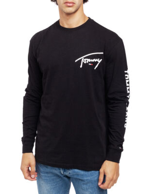 Tommy Jeans Tjm Sleeve Logo Tee Tommy Black
