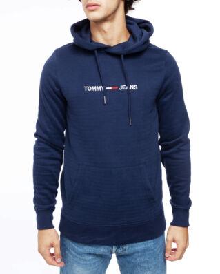 Tommy Jeans Tjm Straight Logo Hoodie Black Iris