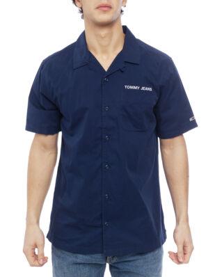 Tommy Jeans Tjm Twill Camp Shirt Black Iris