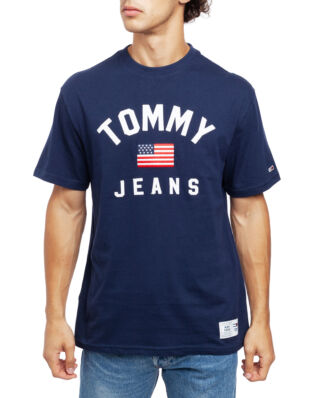 Tommy Jeans Tjm Usa Flag Tee Black Iris