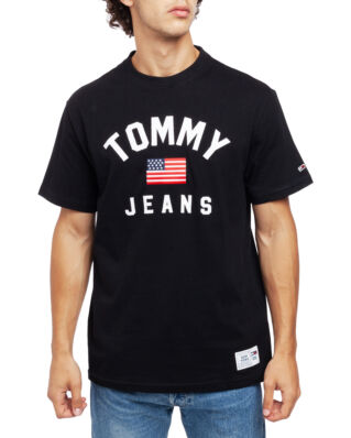 Tommy Jeans Tjm Usa Flag Tee Tommy Black