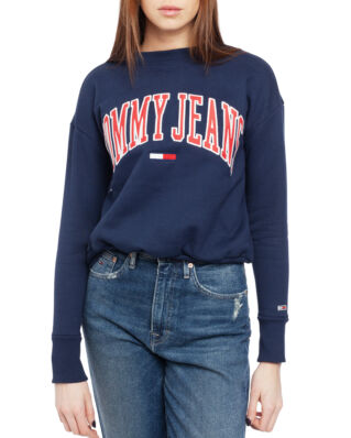 Tommy Jeans Tjw Clean Collegiate Crew Black Iris