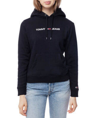 Tommy Jeans Tjw Clean Linear Logo Hoodie Tommy Black