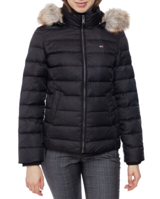 Tommy Jeans Tjw Essential Hooded Down Jacket Tommy Black