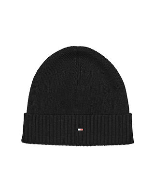 Tommy Hilfiger Pima Cotton Beanie Black