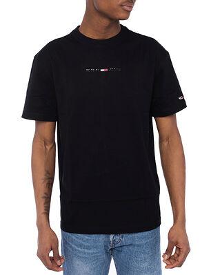Tommy Hilfiger TJM Gel Linear Logo Tee Black