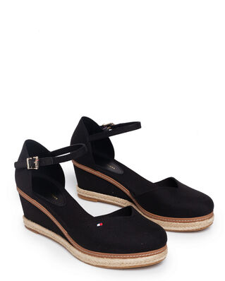 Tommy Hilfiger Basic Closed Toe Mid Wedge Black