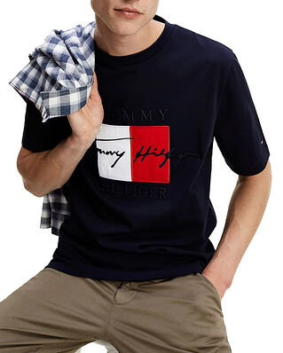 Tommy Hilfiger Box Signature Relaxed Fit Tee Desert Sky