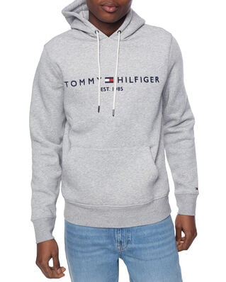 Tommy Hilfiger Core Tommy Logo Hoody Cloud Heather