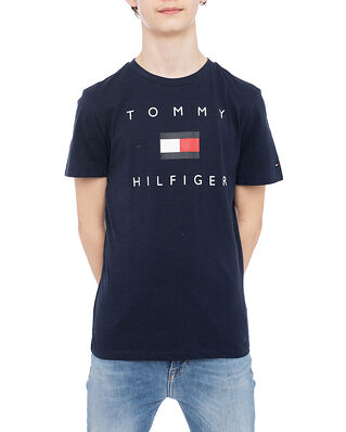 Tommy Hilfiger Hilfiger Logo Tee S/S Twilight Navy