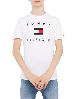 Tommy Hilfiger Hilfiger Logo Tee S/S White