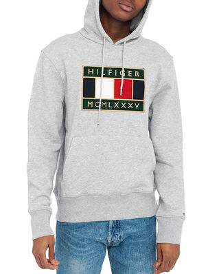 Tommy Hilfiger Icon Badge Hoody Medium Grey Heather