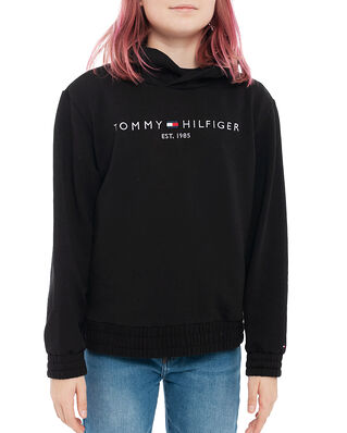 Tommy Hilfiger Junior Essential Hooded Sweatshirt Black