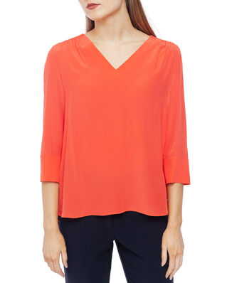 Tommy Hilfiger Lottie Blouse 3/4 Sleeve Bright Vermillion