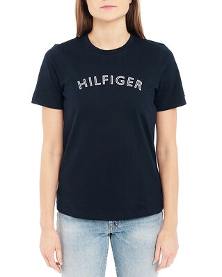 Tommy Hilfiger Regular C-Nk Outline Tee Ss Desert Sky