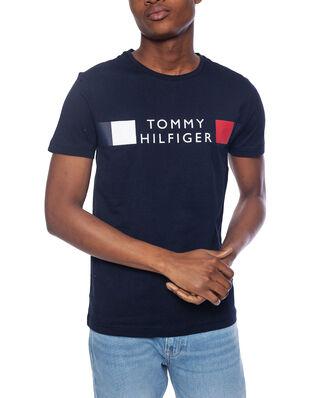 Tommy Hilfiger Rwb Stripe Tee Desert Sky